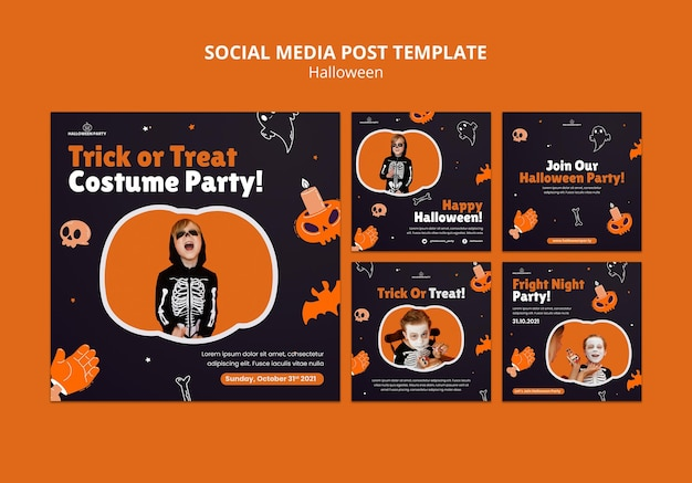 Post sui social media di halloween