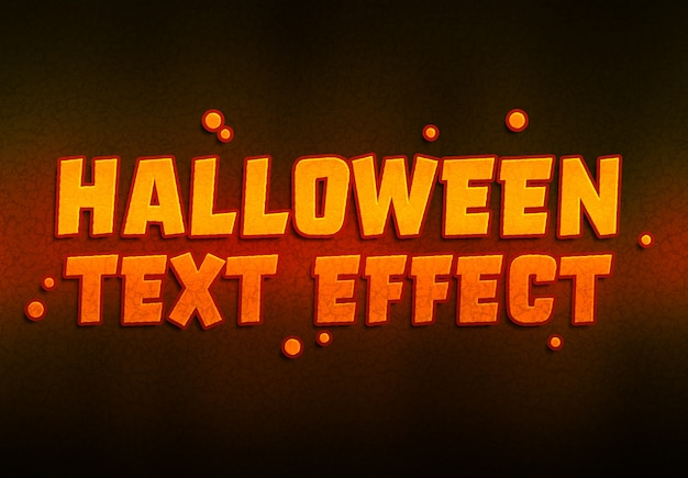 Halloween text effect mockup