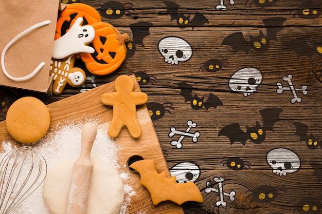 Halloween treats baking process