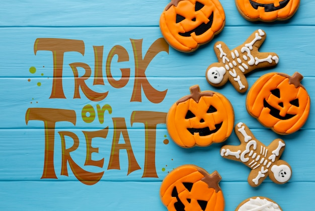 Хэллоуин трюк или угощение сладостями