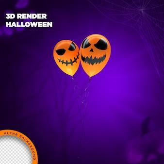 Rendering 3d di palloncini di halloween per la composizione