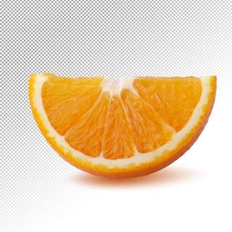 分離された半分のオレンジスライス