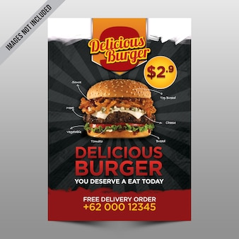 Hamburger flyer mockup