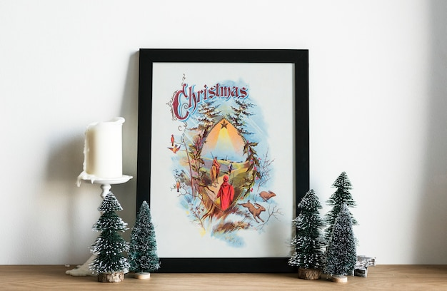 Hand drawing photo of christmas day