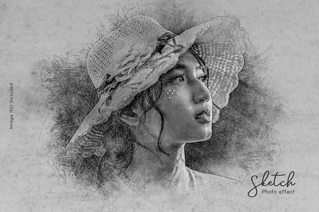 손 그리기 사진 효과 템플릿