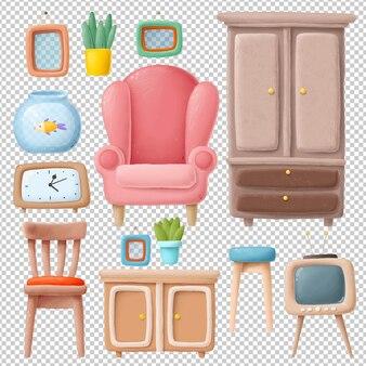 Коллекция рисованной мебели