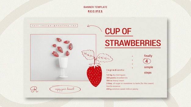 Hand drawn recipes banner template