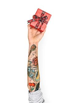 Hand holding box