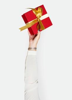 手、プレゼント、ボックス