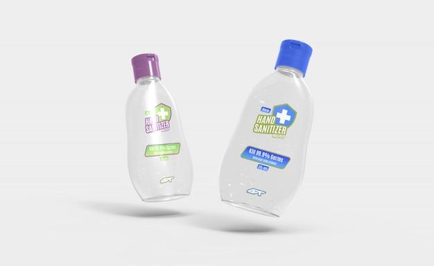 Дезинфицирующее средство для рук гель для бутылок макет