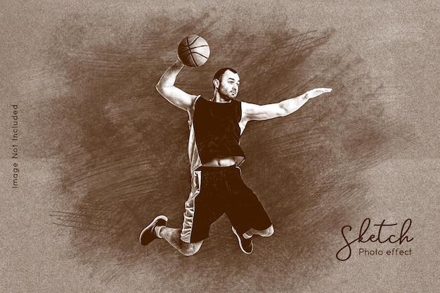 손으로 스케치 사진 효과 템플릿