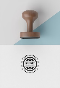 Hand stamp with handle mock-up