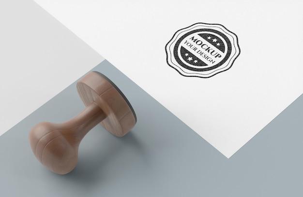 Ручная печать с макетом ручки