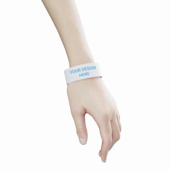고무 또는 실리콘 팔찌 팔찌 모형이 달린 손