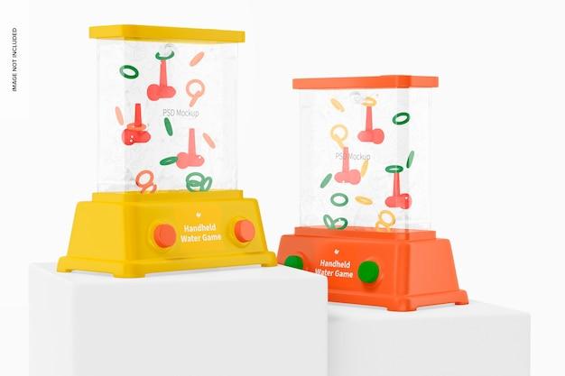Handheld water games on surfaces mockup
