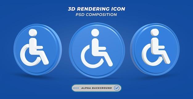 Значок гандикапа в 3d-рендеринге