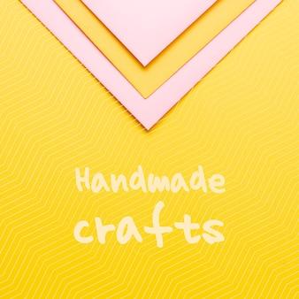 Messaggio di artigianato fatto a mano su cartone