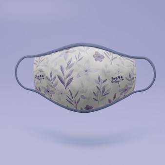 Handmade face mask with mock-up concept