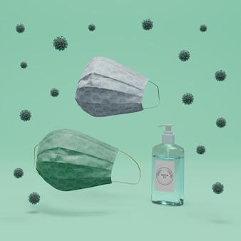 수제 페이스 마스크 및 손 소독제