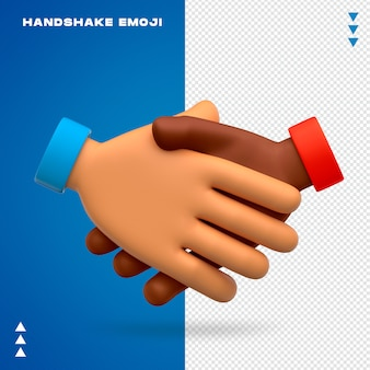 Handshake emoji isolated