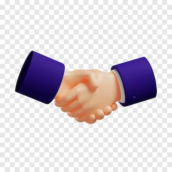 Handshake emoji isolated