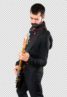 Handsome man with guitar