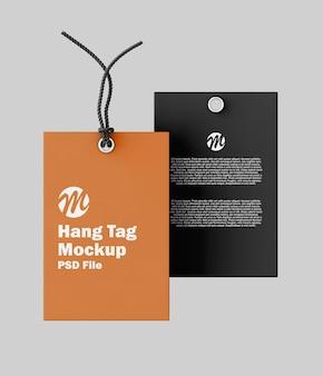 Hang tag mockup isolated
