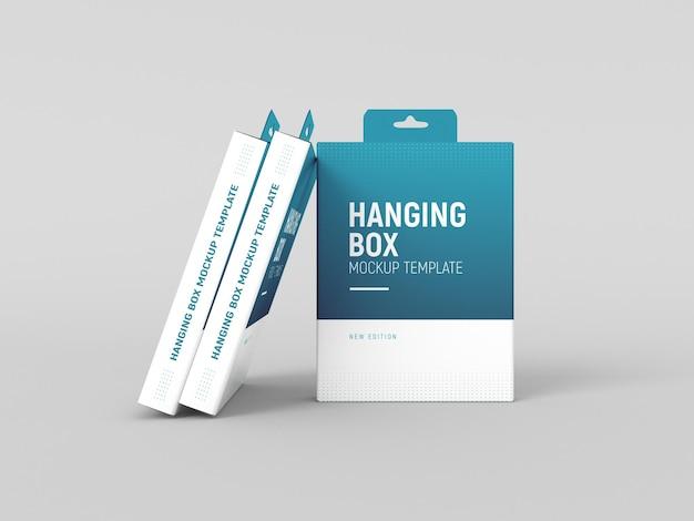 Mockup di scatola appesa