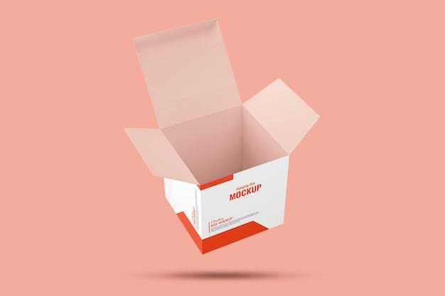 Подвесной макет коробки для продуктов электроники открытый вид на рождество