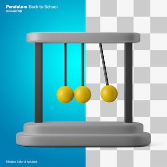 ぶら下がっている振り子ボールスイング物理シンボル3dイラストアイコン編集可能な分離