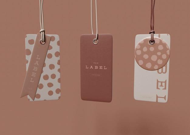 Hanging tag mockup