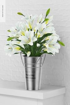 壁の花瓶のモックアップ、展望