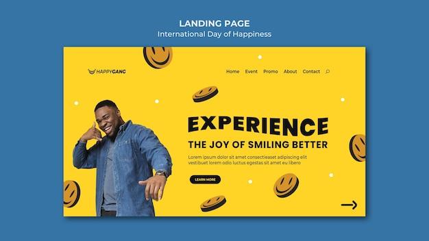 Modello web di giorno di felicità