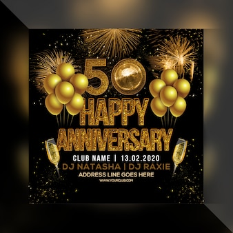 Happy anniversary party flyer