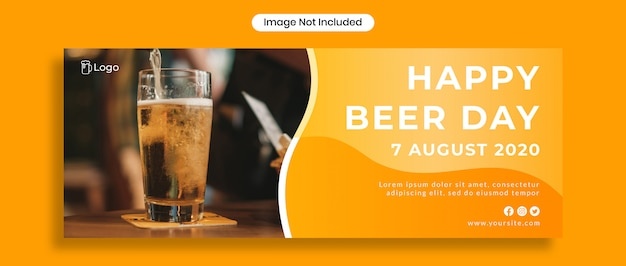 Happy beer day facebook cover