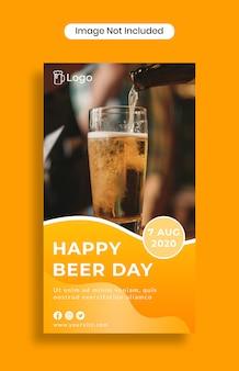 Happy beer day instagram stories template