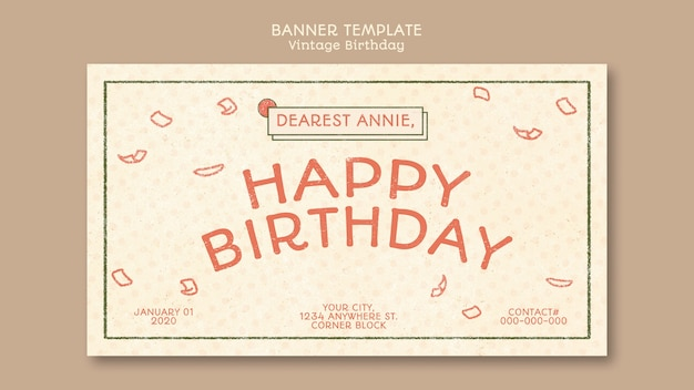 Happy birthday business template concept
