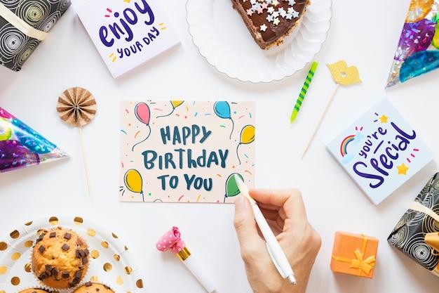 Happy birthday concept mock-up