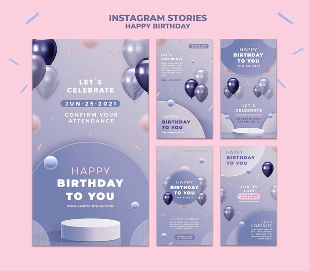 С днем рождения истории instagram