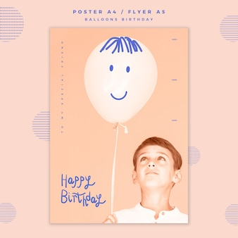Happy birthday poster template