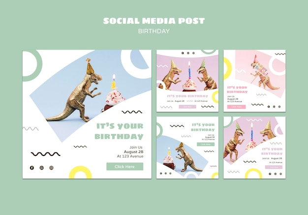 Happy birthday social media post