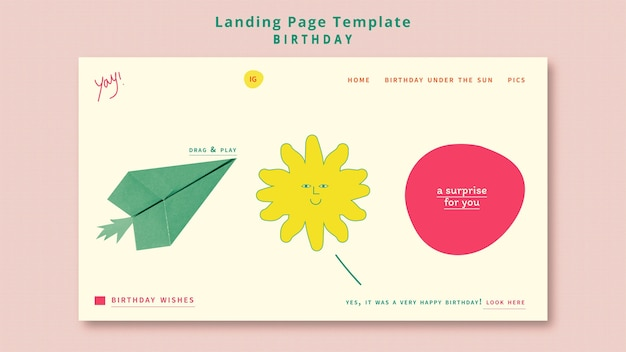 Happy birthday web template