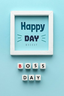 Happy boss's day with frame