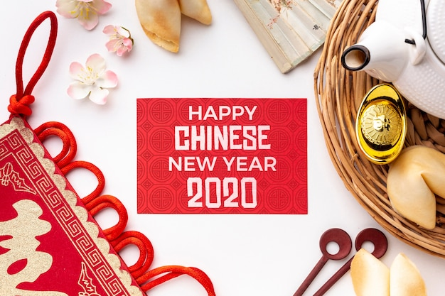 Happy chinese new year mock-up