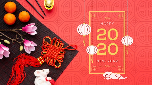 Felice anno nuovo cinese mock-up
