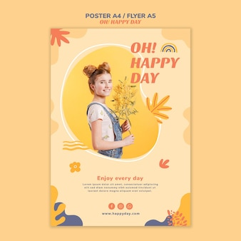 Happy day concept flyer template