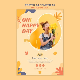 Счастливый день концепция плаката