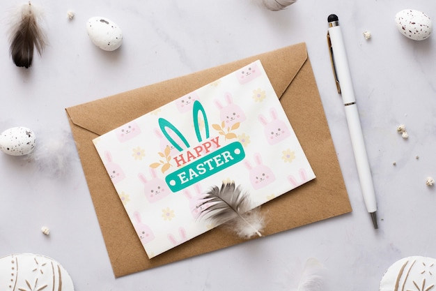 Buona pasqua card mock-up