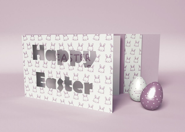 Happy easter card mockup