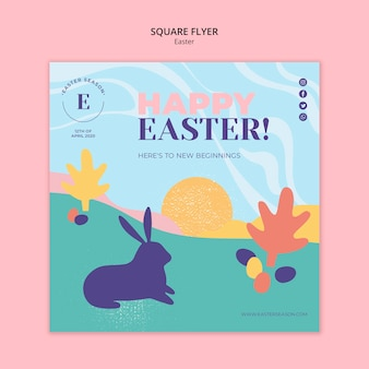 Happy easter day flyer